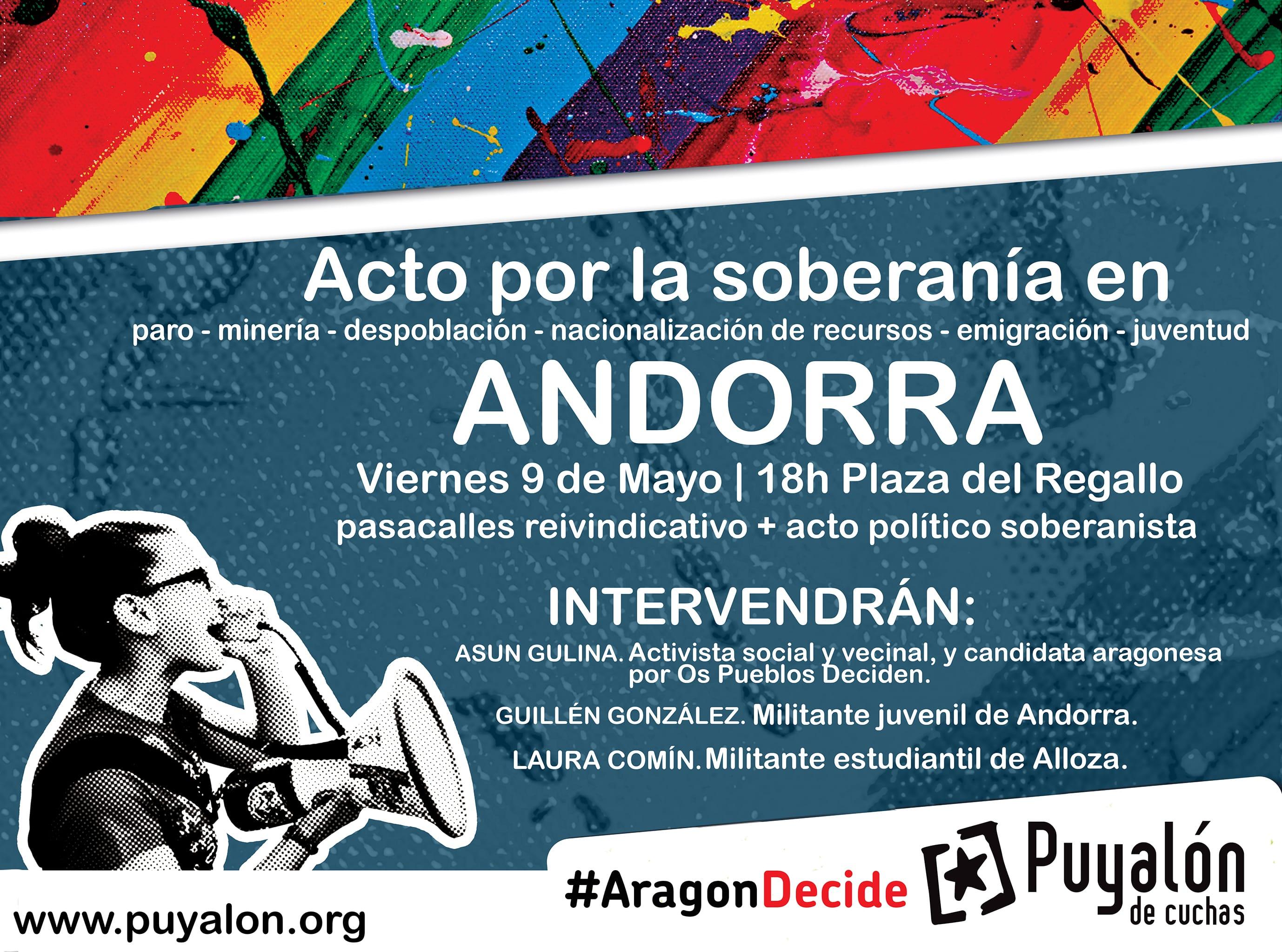 cartel ANdorra baixo aragon redes