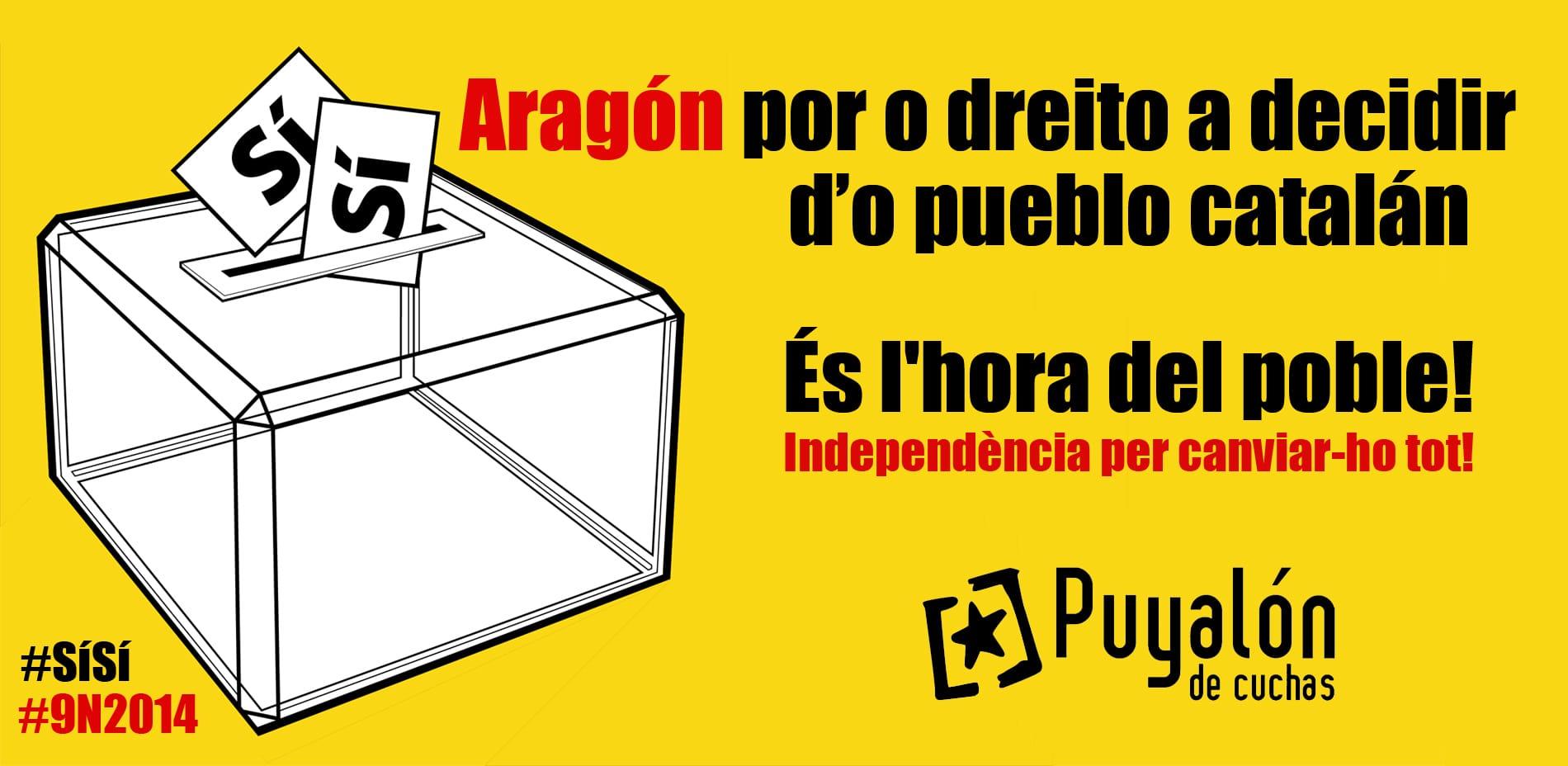 Cartel apoyo Catalunya Puyalon
