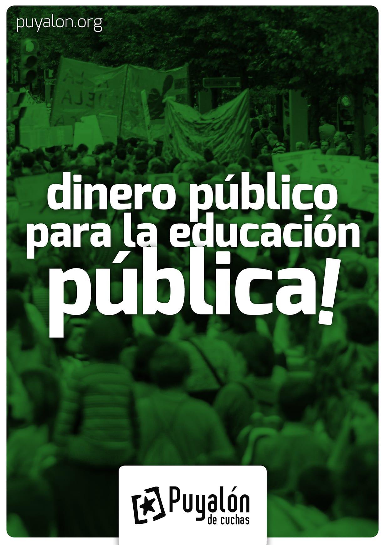 educacion publica. No a la educación concertada