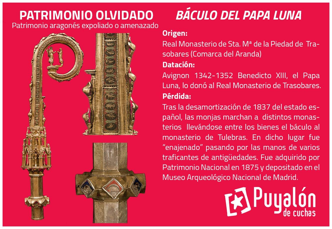 patrimonio expoliado váculo Papa Luna Benedicto XIII