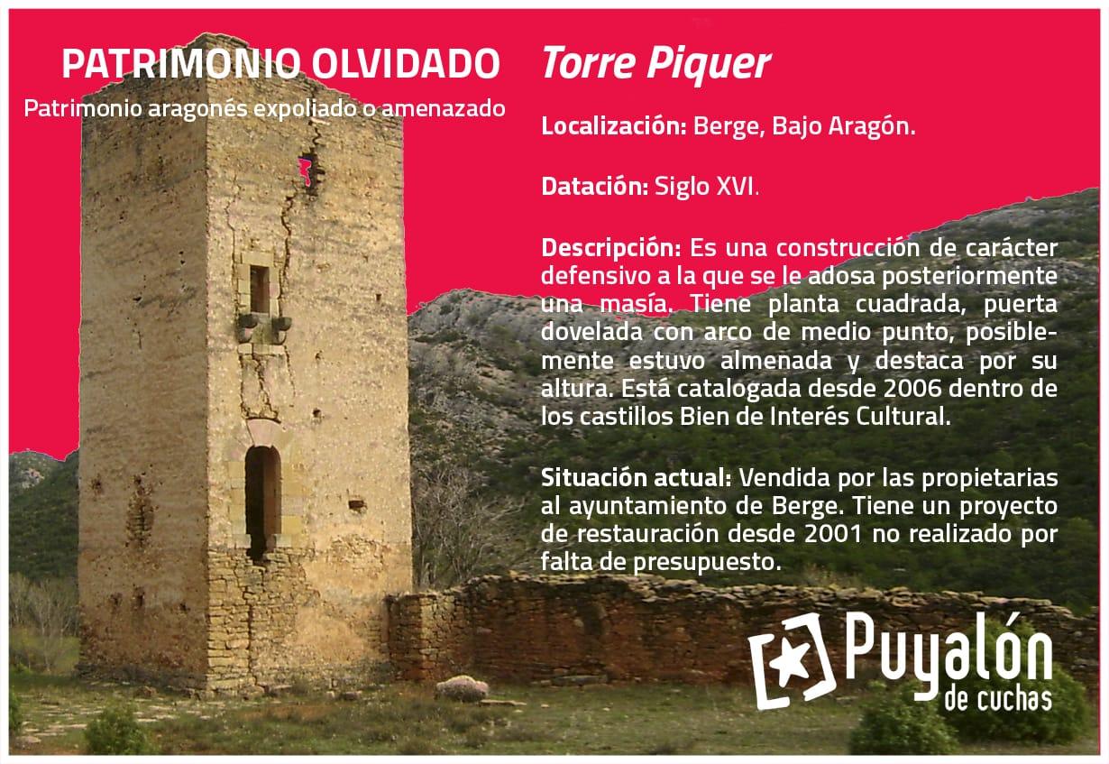 Torre Piquer Berge Patrimonio amenzado