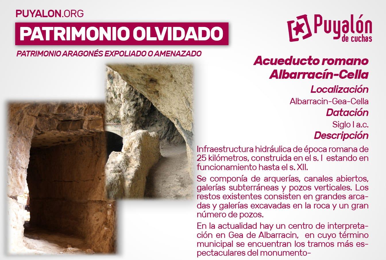 Acueducto romano Albarracín Cella