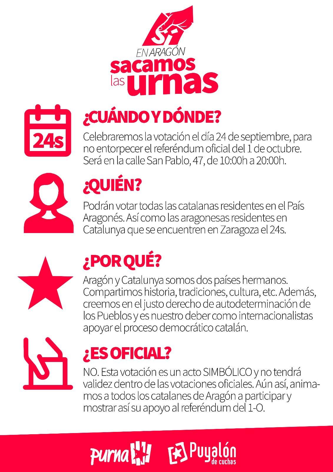 Apoyo al referendum catalán