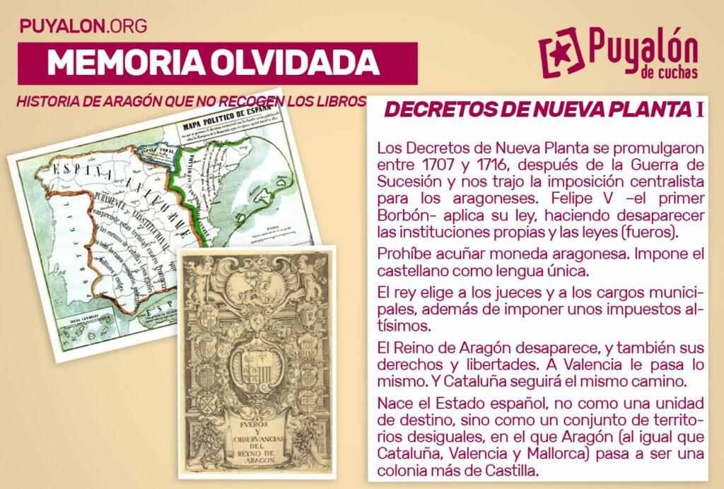 Decretos de Nueva Planta Aragón