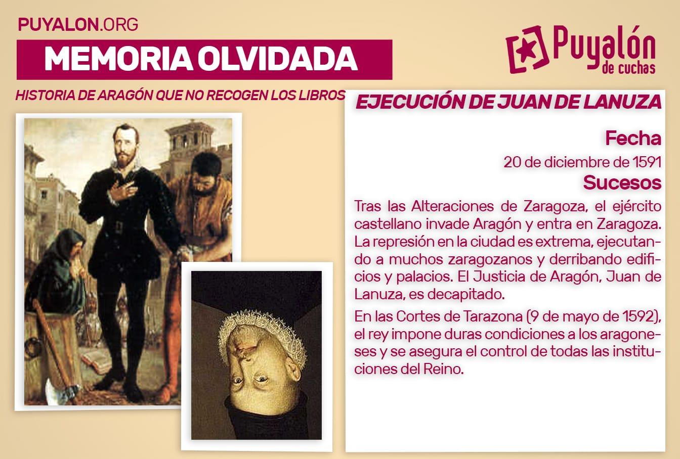 Ejecución de Juan de Lanuza Justicia de Aragón