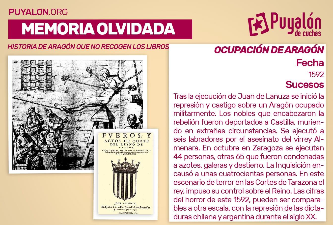 ocupación de Aragón